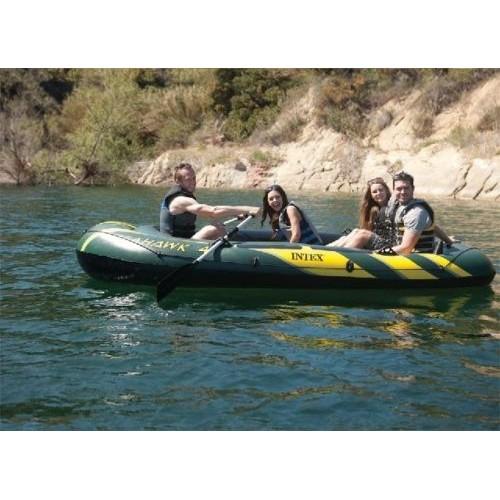 Intex Seahawk 4 Inflatable Fishing Boat Four Person Air Pump Fishing Raft  PVC