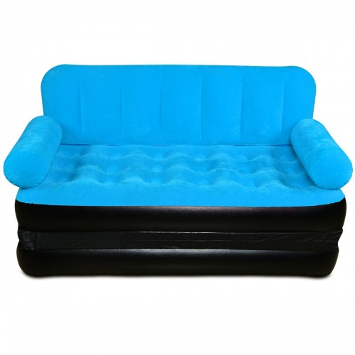Inflatable sofa come bed 5 in 1 inflatable sofa air bed for Ultimate sofa bed
